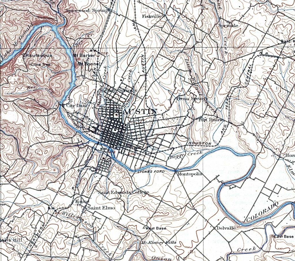 Texas Cities Historical Maps - Perry-Castañeda Map Collection - Ut - Where Is Marble Falls Texas On The Map