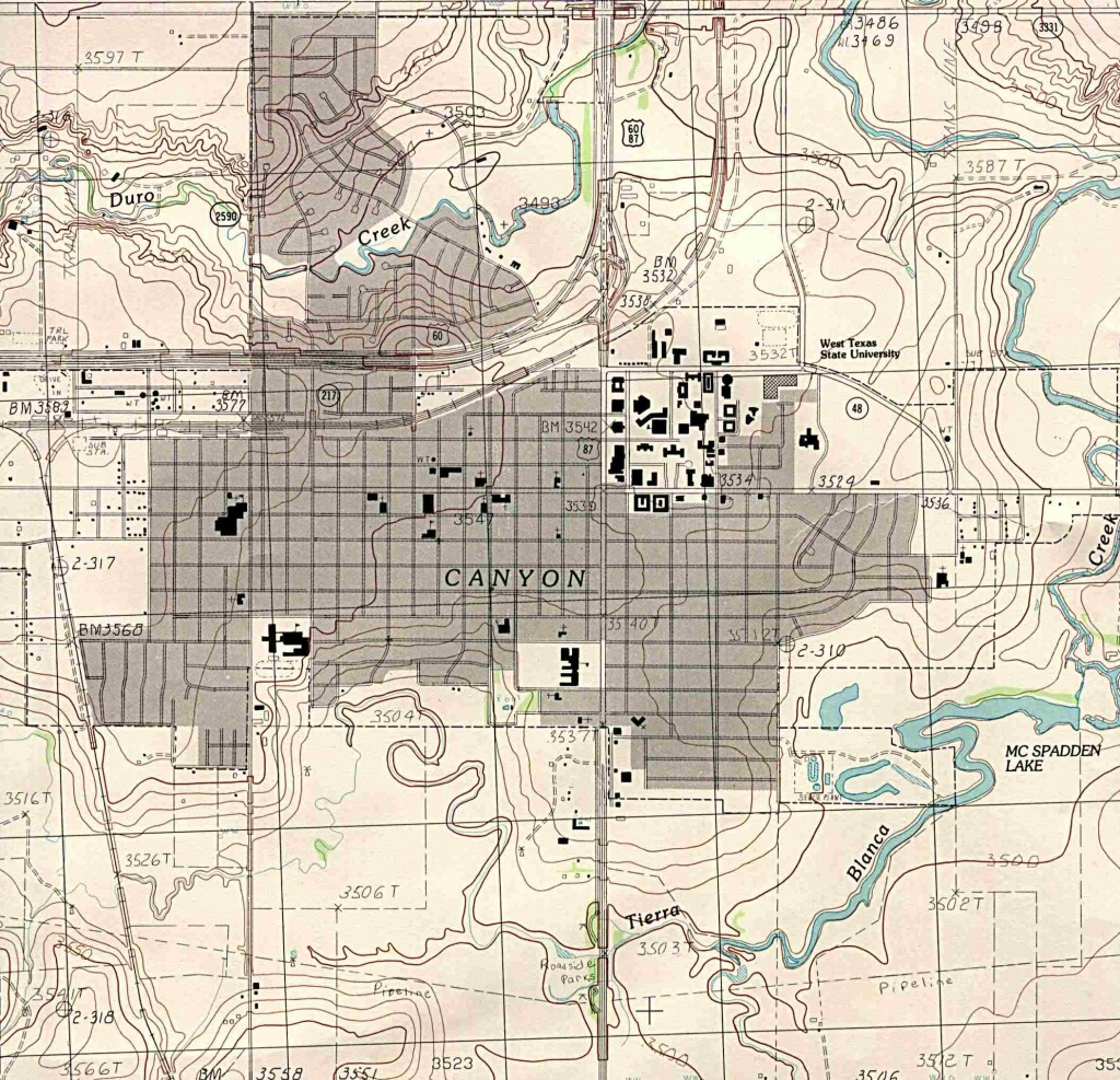 Texas City Maps - Perry-Castañeda Map Collection - Ut Library Online - City Map Of Amarillo Texas