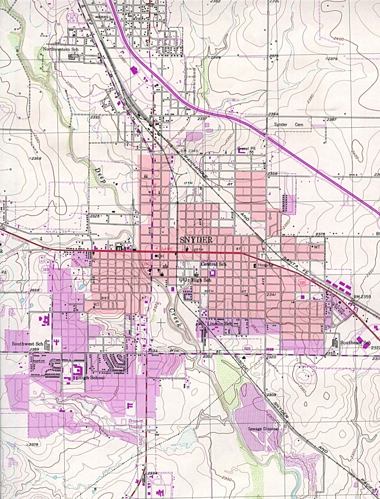 Texas City Maps - Perry-Castañeda Map Collection - Ut Library Online - Snyder Texas Map