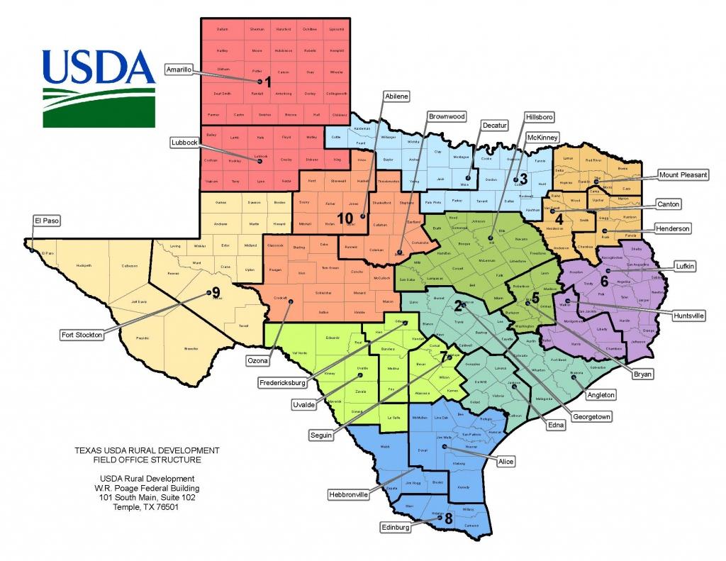 Texas Contacts | Usda Rural Development - Usda Map Texas