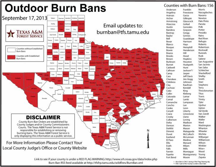 Texas Burn Ban Map