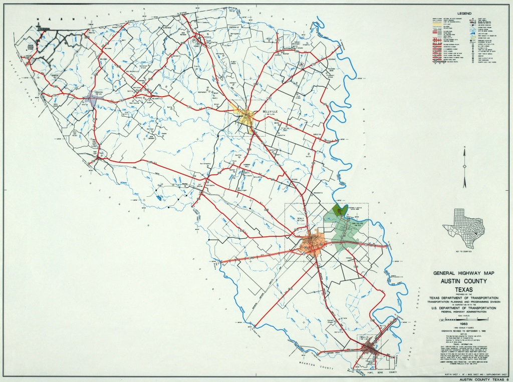 Texas County Highway Maps Browse - Perry-Castañeda Map Collection - Austin County Texas Map