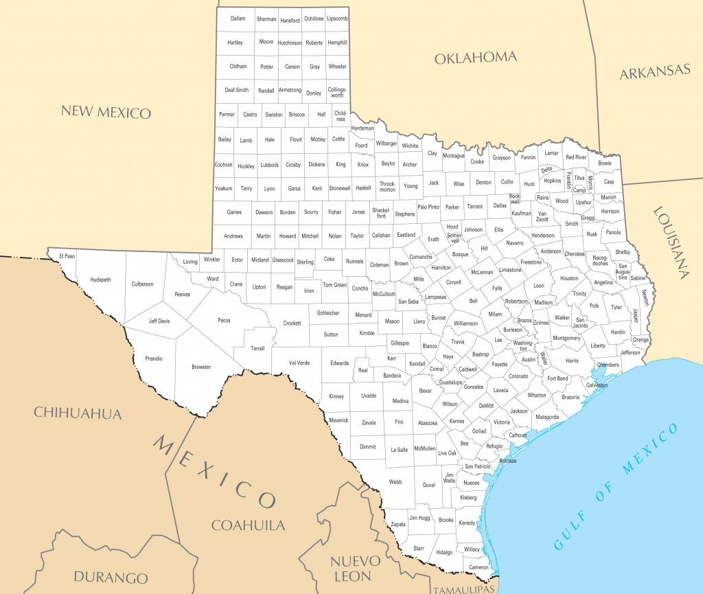 Texas County Map • Mapsof - Google Maps Texas Counties