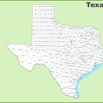 Texas County Map - Printable Map Of Texas