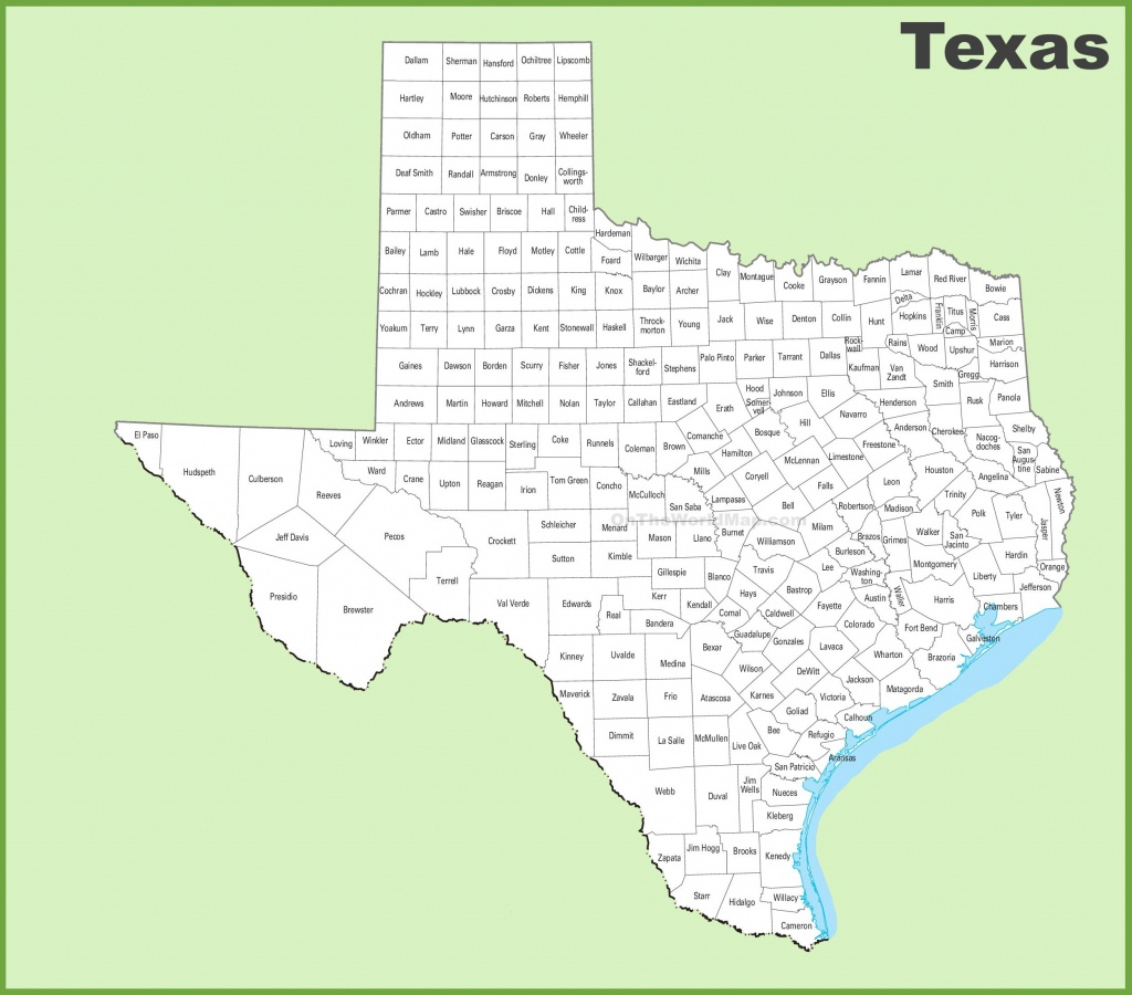 Texas County Map - Texas Map With County Lines