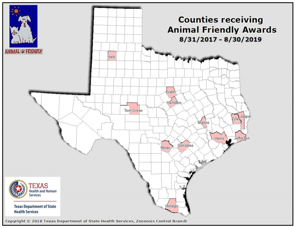 Texas Department Of State Health Services, Infectious Disease - Mountain Lions In Texas Map