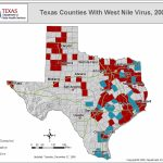 Texas Department Of State Health Services, Infectious Disease – West Nile Virus Texas Zip Code Map