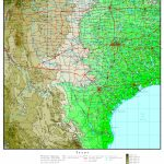 Texas Elevation Map   Florida Land Elevation Map