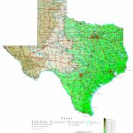 Texas Elevation Map - Interactive Elevation Map Of Texas