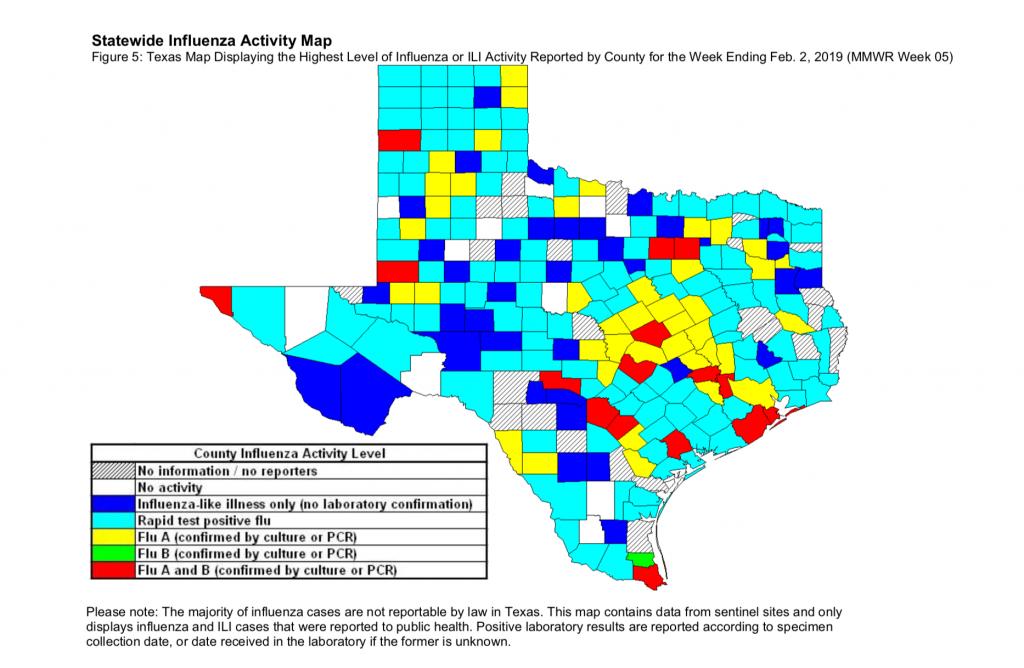 Texas Flu Season 2018-2019 - Best Texas Er Open 24/7, No Lines - Texas Flu Map 2017