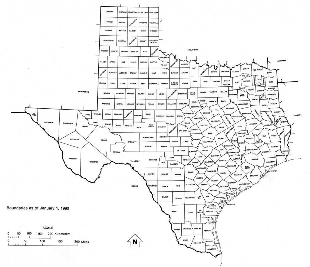Texas Free Map - Texas Map Print