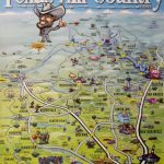 Texas Hill Country Caricature Map Poster | Texas | Texas Hill   Texas Map Poster