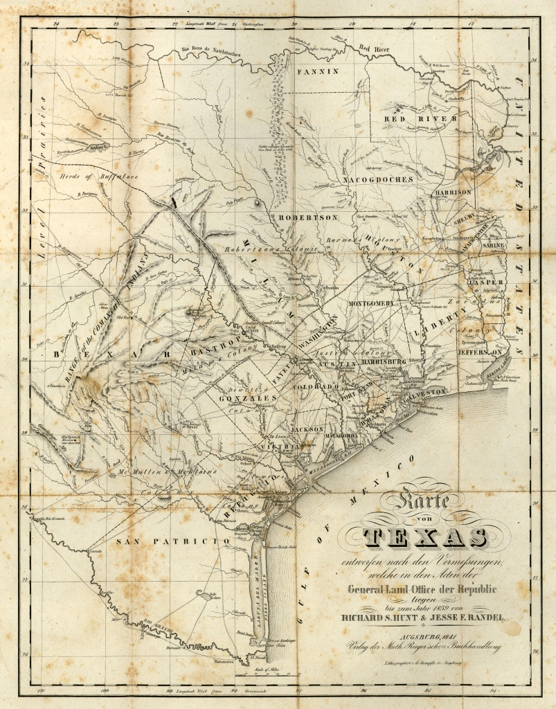 Texas Historical Maps - Perry-Castañeda Map Collection - Ut Library - Old Texas Map