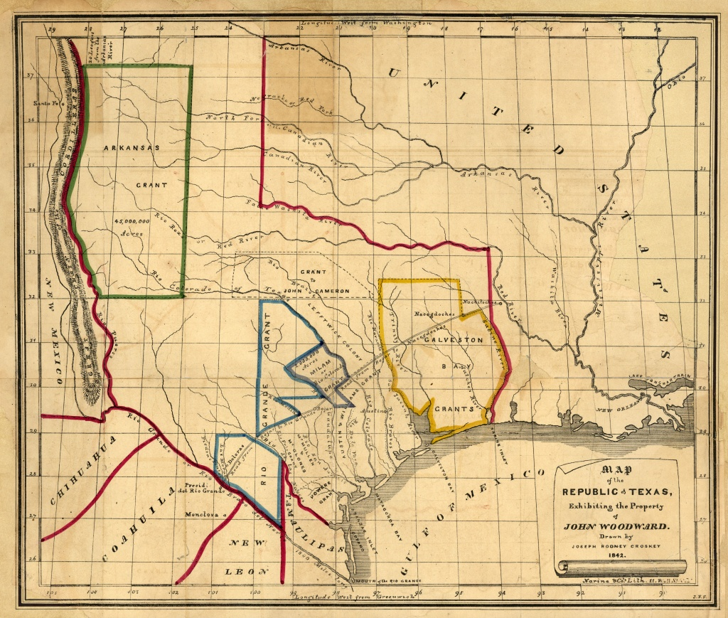 Texas Historical Maps - Perry-Castañeda Map Collection - Ut Library - Republic Of Texas Map Overlay