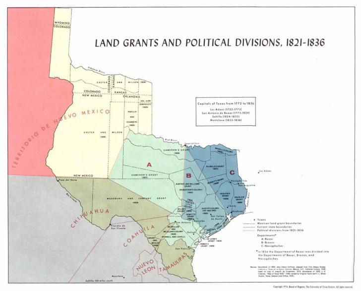Texas Land Grants Map