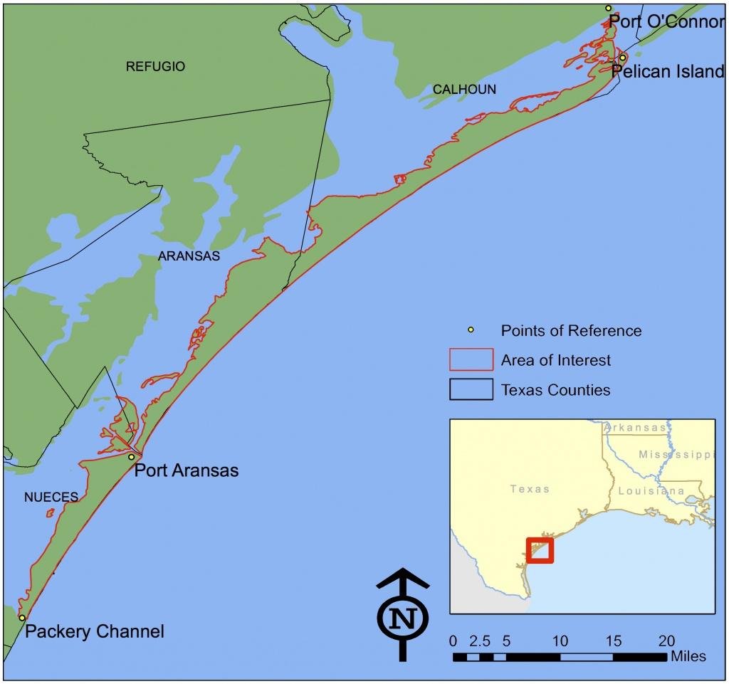 Texas Invasives - Map Of Texas Coastline