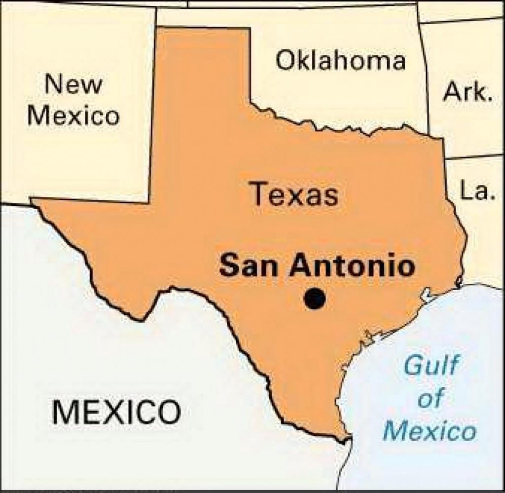 Texas La Carte De San Antonio - San Antonio De La Carte Du Texas - San Antonio Texas Maps