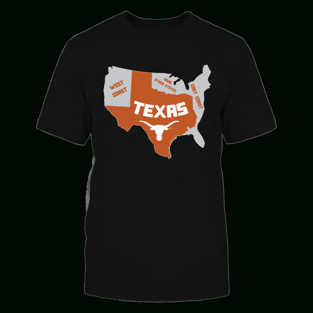 Texas Longhorns - Texas Map | T-Shirts | Texas Longhorns, Digital - Texas Not Texas Map T Shirt