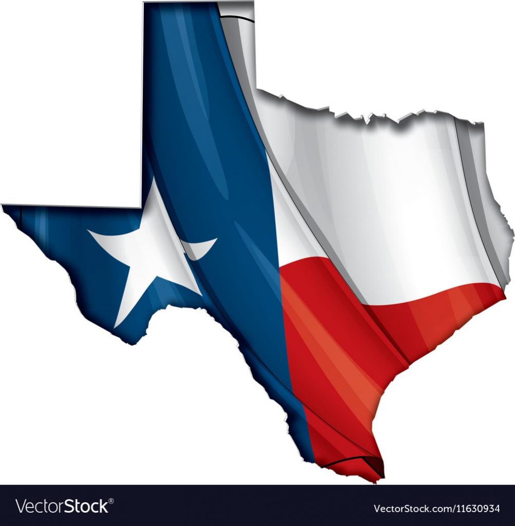 Texas Map Flag Royalty Free Vector Image - Vectorstock - Texas Flag Map