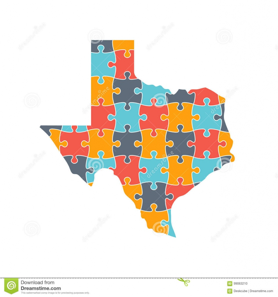 Texas Map Rebuild Puzzle Solution Infographic Illustration Stock - Texas Map Puzzle