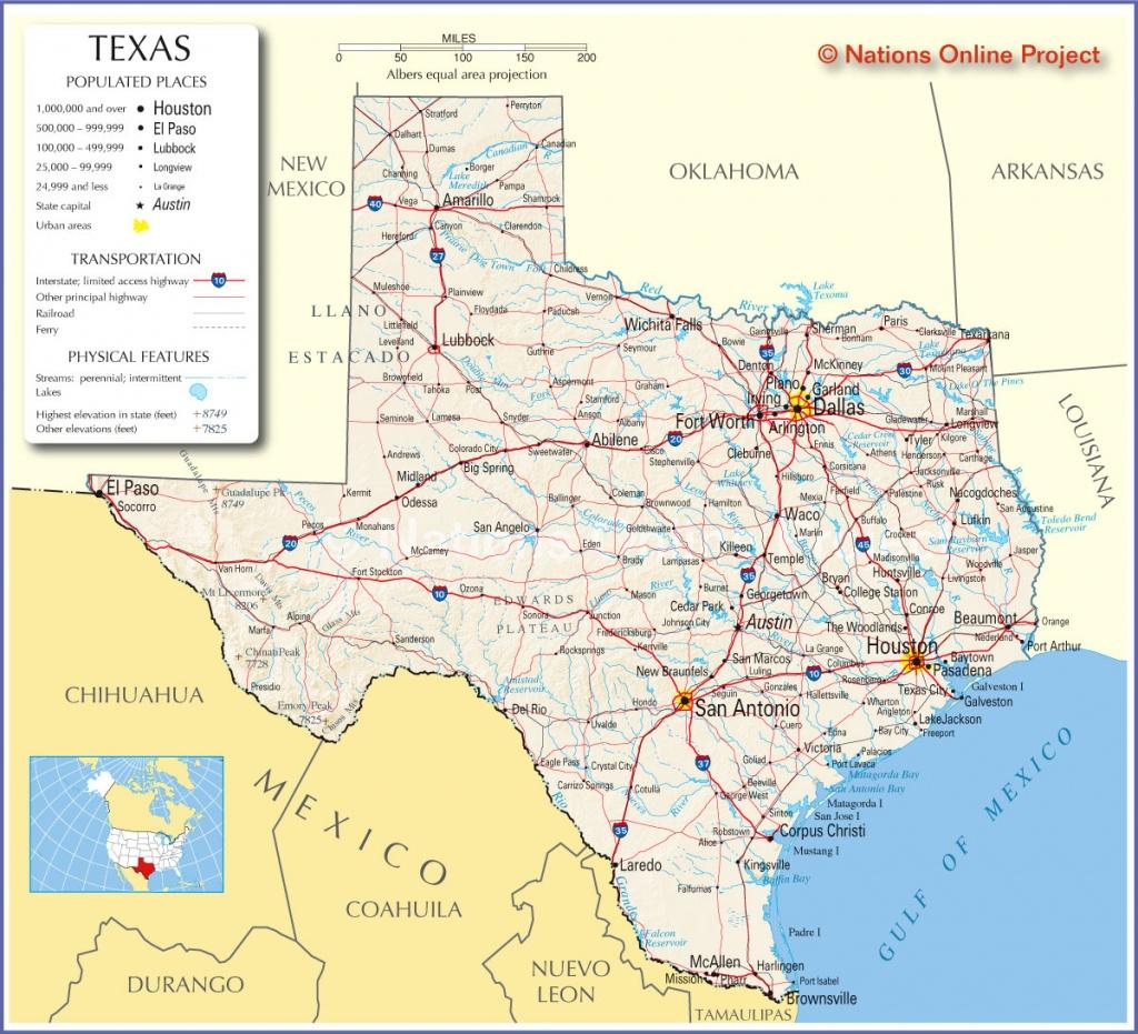Texas Map | Travel Across The Usa - Travel Texas Map