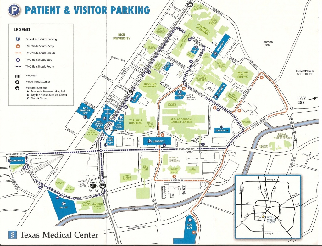 Texas Medical Center Map | Map 2018 - Texas Medical Center Map