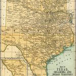 Texas Oklahoma Indian Territory Antique Map 1891: Map Of Oklahoma   Antique Texas Map Reproductions