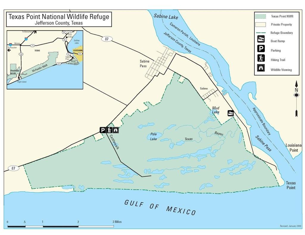 Texas Point National Wildlife Refuge - Maplets - Texas Wildlife Refuge Map