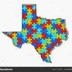 Texas Puzzle Pieces Carte Travaillant Ensemble Illustration   Texas Map Puzzle