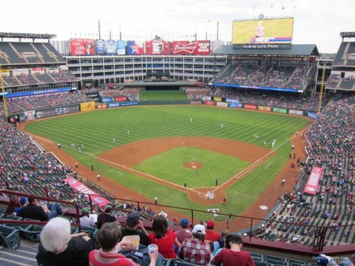 Texas Rangers Ballpark Map