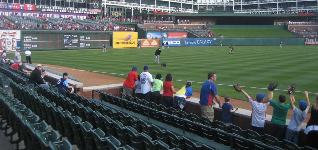 Texas Rangers Globe Life Park Seating Chart & Interactive Map - Texas Rangers Stadium Parking Map