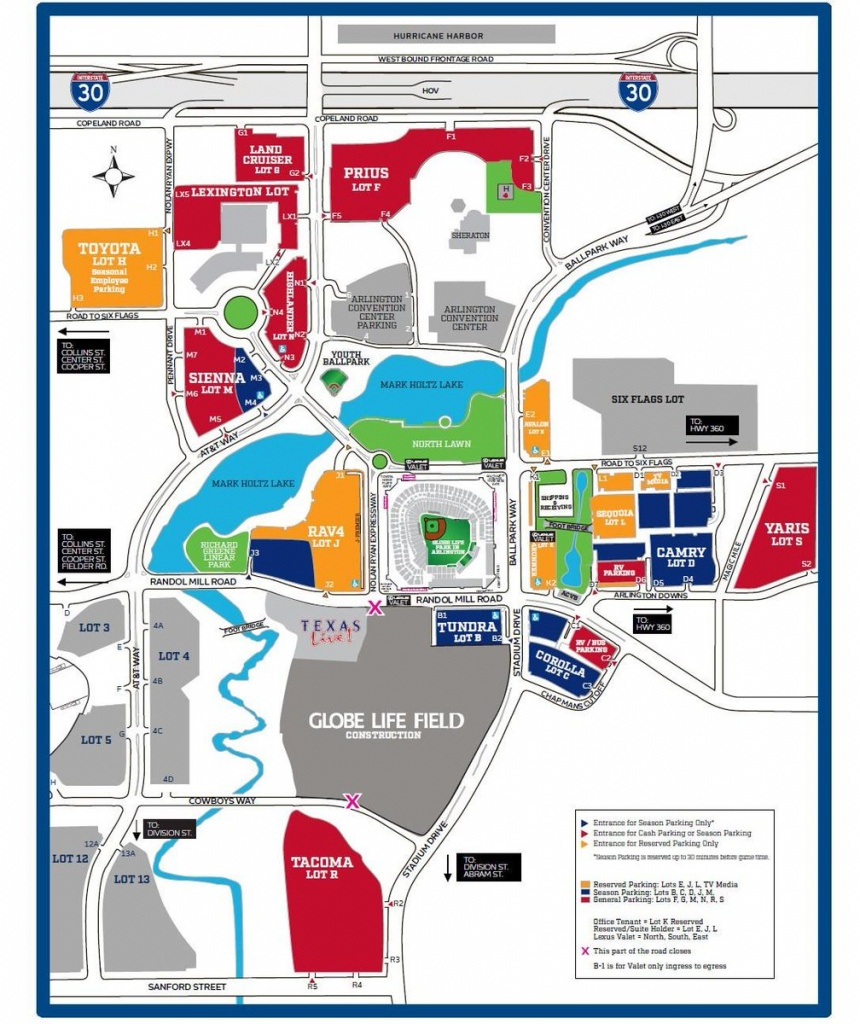 "Texas Rangers On Twitter: ""you Will Be Able To Get Into Any Cash Lot - Texas Rangers Stadium Parking Map"