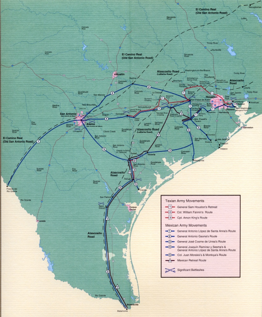 Texas Revolution Maps - Texas Independence Map