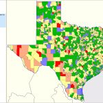 Texas School District Performance Analysis - Texas School District Map