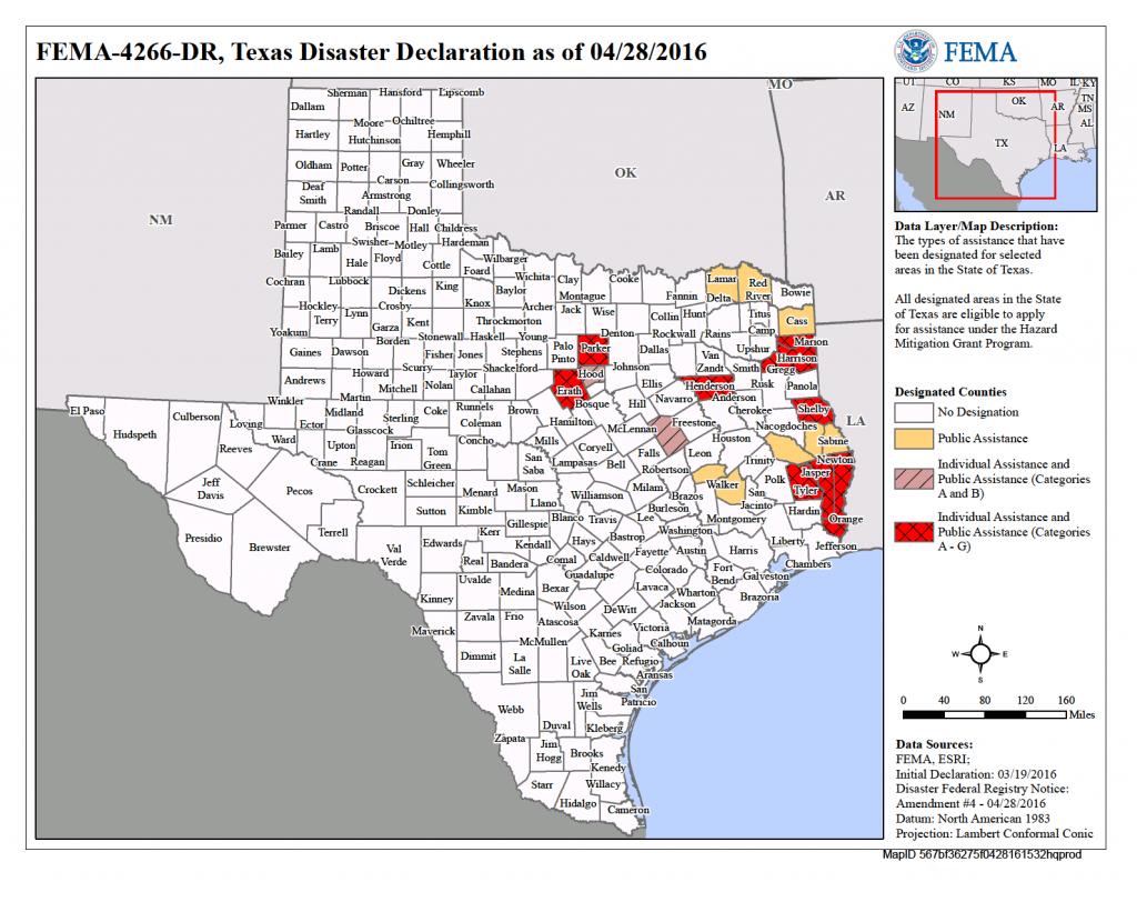 Texas Severe Storms, Tornadoes, And Flooding (Dr-4266)   Fema.gov - Orange County Texas Flood Zone Map