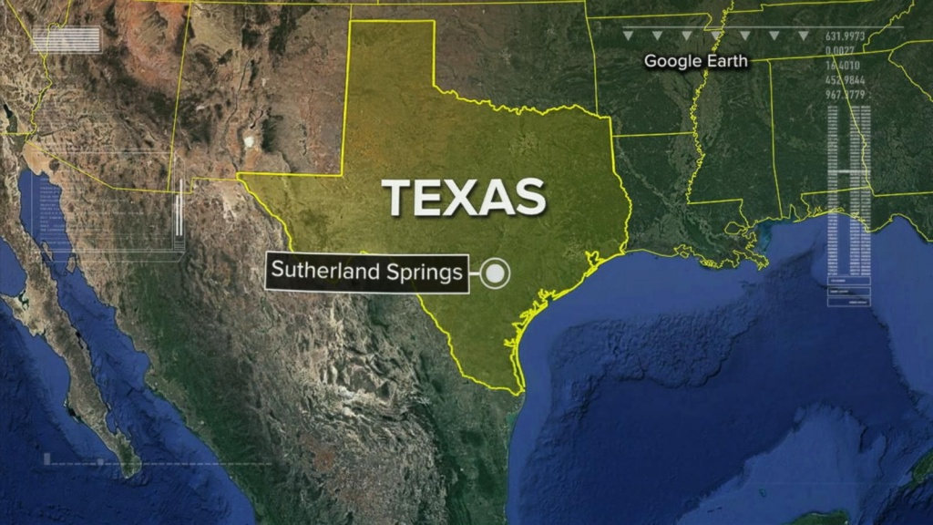 Texas Shooting: Pastor Encouraged Members To Lean On God In Last - Google Earth Texas Map