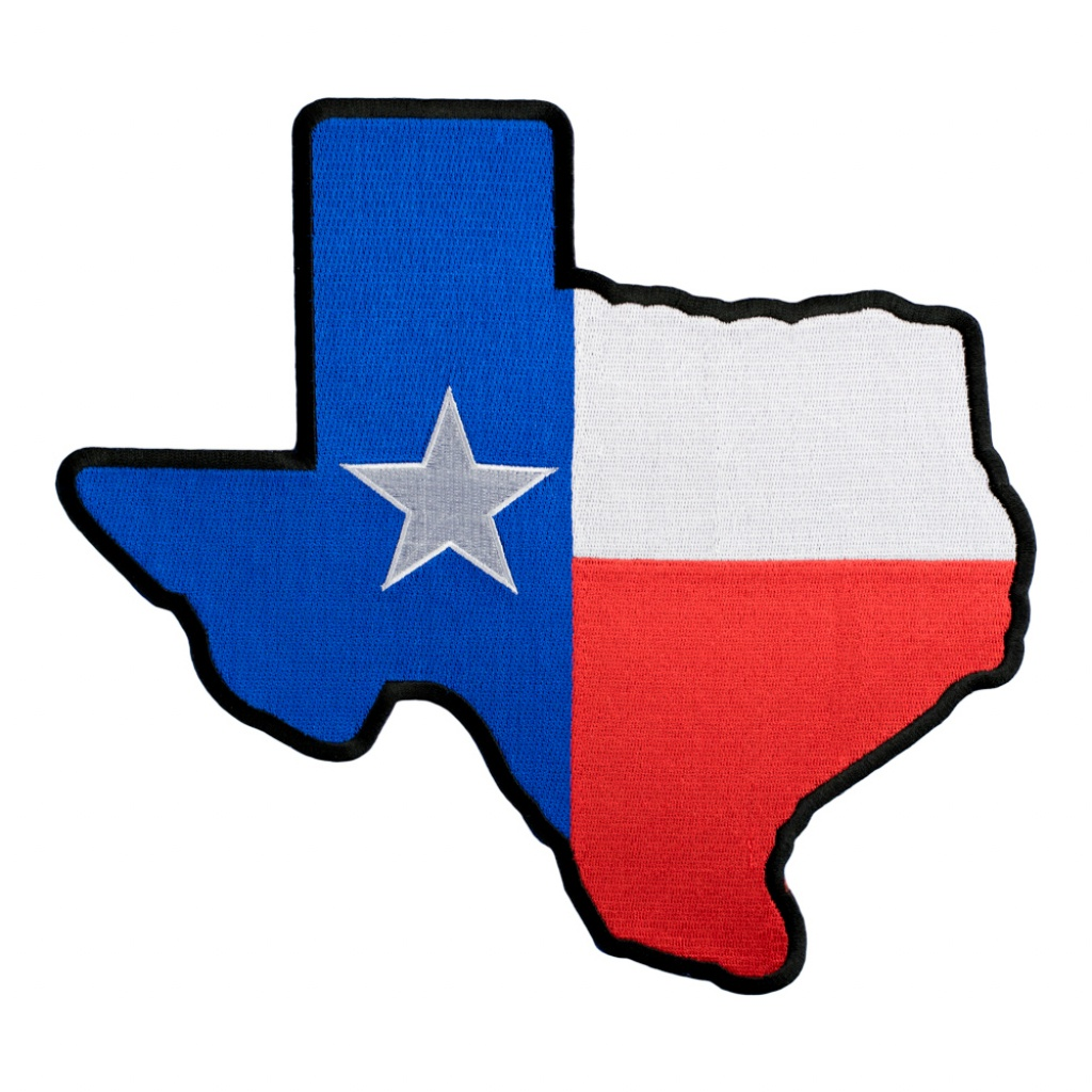 Texas State Flag Map Black Patch | Texas Flag Patches - Texas Flag Map