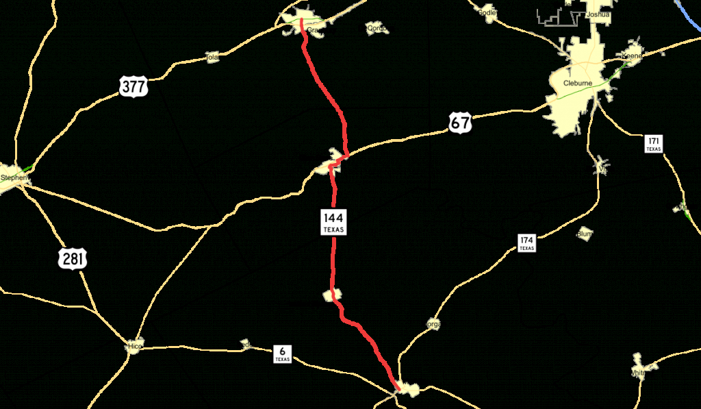 Texas State Highway 144 - Wikipedia - Google Maps Granbury Texas