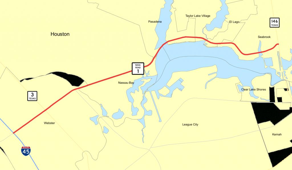 Texas State Highway Nasa Road 1 - Wikipedia - Clear Lake Texas Map