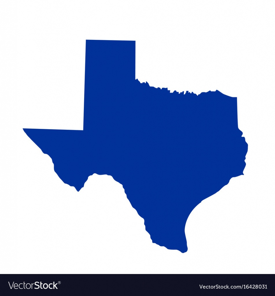 Texas State Map Royalty Free Vector Image - Vectorstock - Texas Map Vector Free