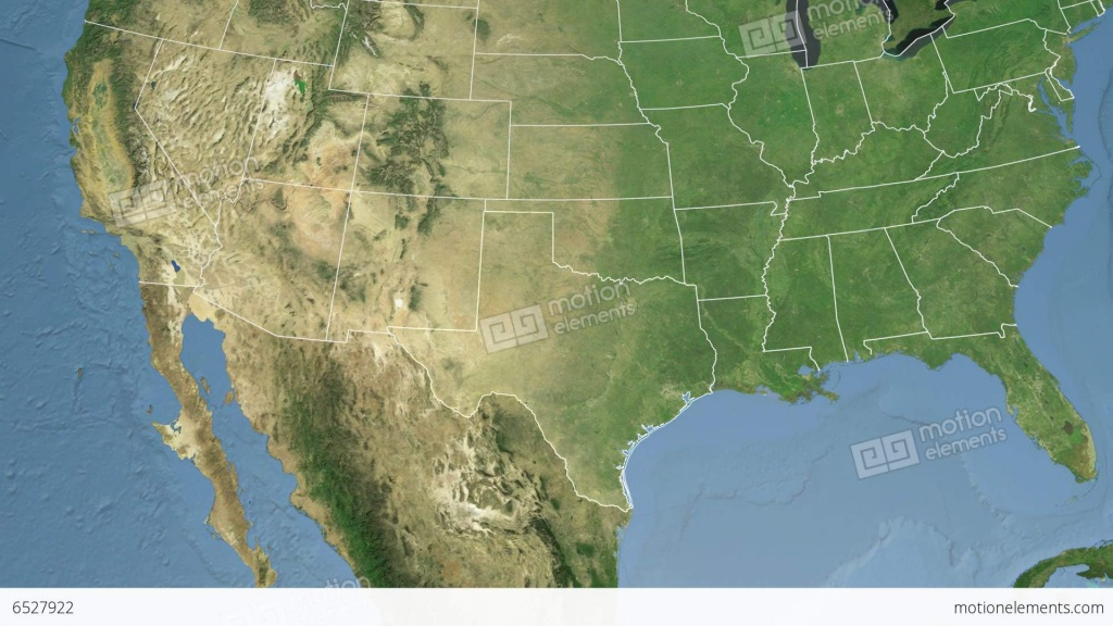Texas State (Usa) Extruded. Satellite Map Stock Animation | 6527922 - Satellite Map Of Texas