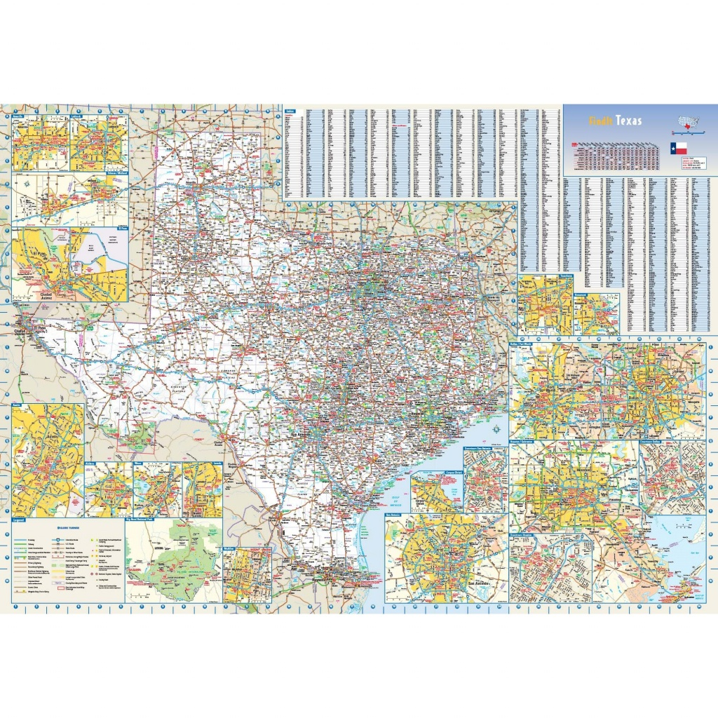 Texas State Wall Map - The Map Shop - Texas Wall Map