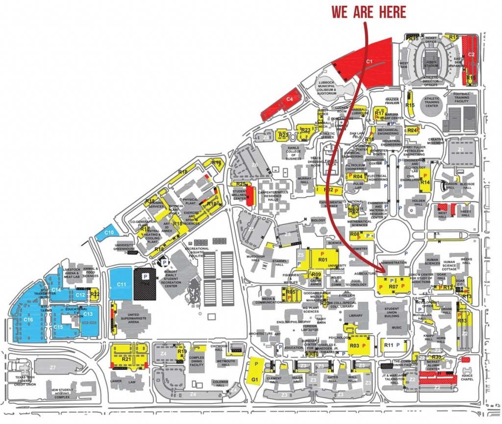 Texas Tech Campus Map | Ageorgio - Texas Tech Campus Map