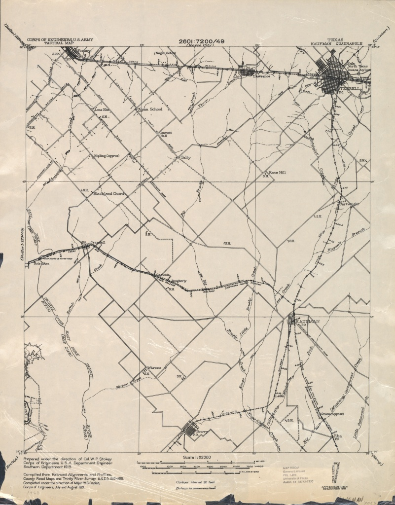 Texas Topographic Maps - Perry-Castañeda Map Collection - Ut Library - Kaufman Texas Map
