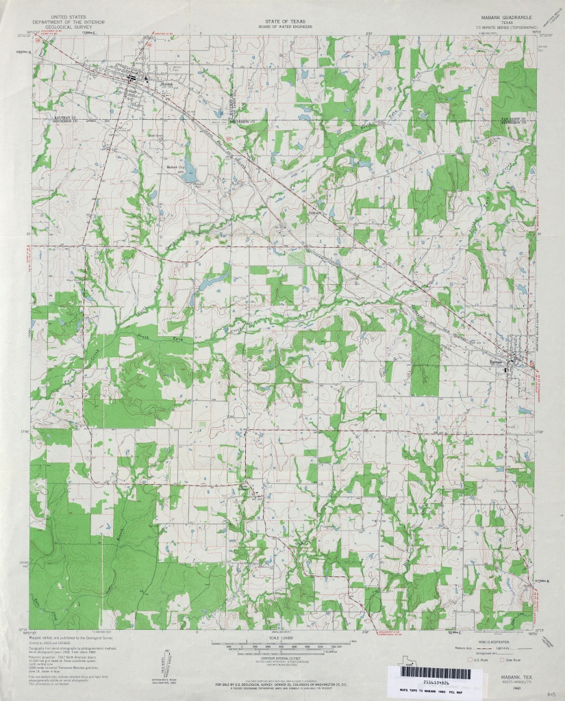 Texas Topographic Maps - Perry-Castañeda Map Collection - Ut Library - Mabank Texas Map