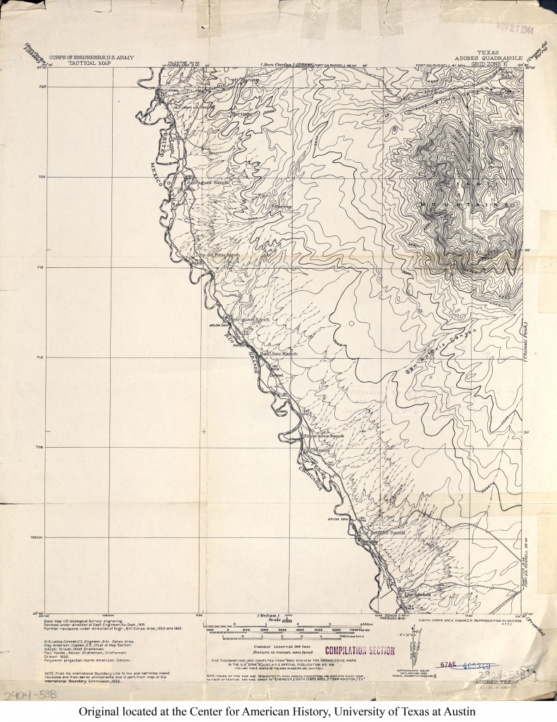 Texas Topographic Maps - Perry-Castañeda Map Collection - Ut Library - Texas Elevation Map
