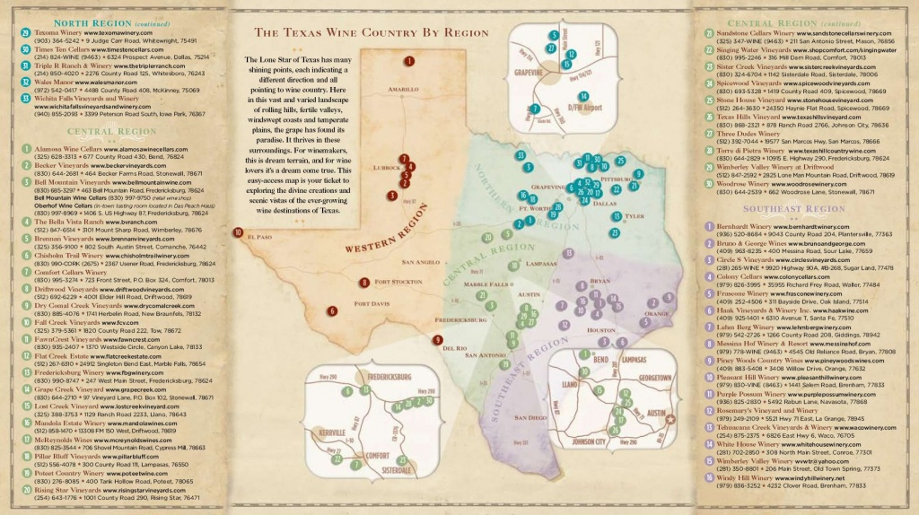 Texas Wine Country Map -Texas Has Eight Officially Recognized - Texas Winery Map
