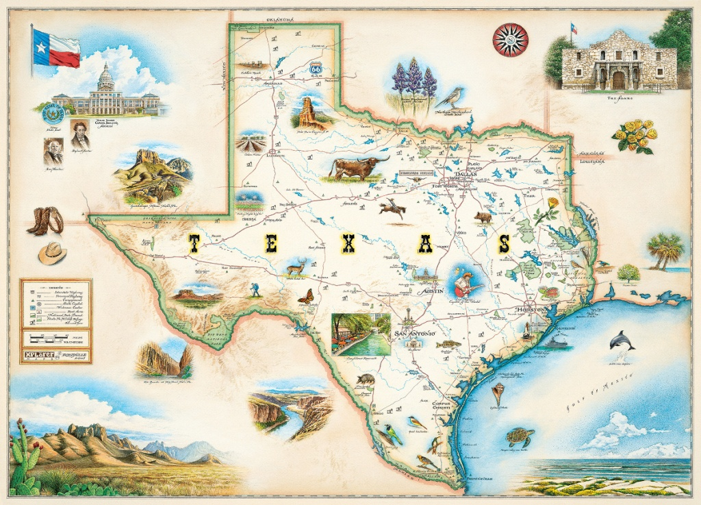 Texas (Xplorer Maps) Jigsaw Puzzle | Puzzlewarehouse - Texas Map Puzzle