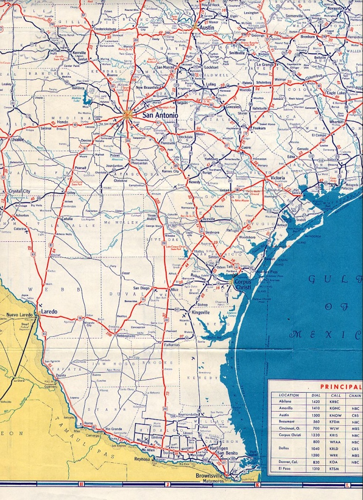 Texasfreeway > Statewide > Historic Information > Old Road Maps - Official Texas Highway Map