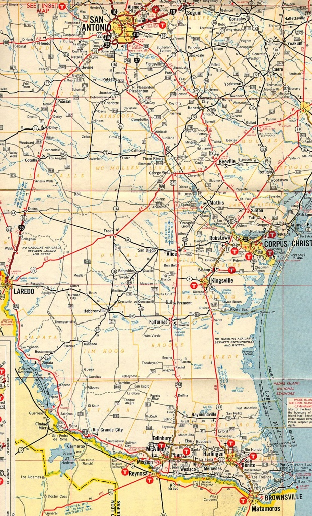 Texasfreeway > Statewide > Historic Information > Old Road Maps - South Texas Road Map